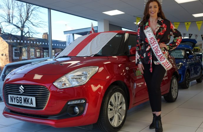 By 'royal' appointment – Stoneacre gives Miss England a Suzuki Swift to use during her reign