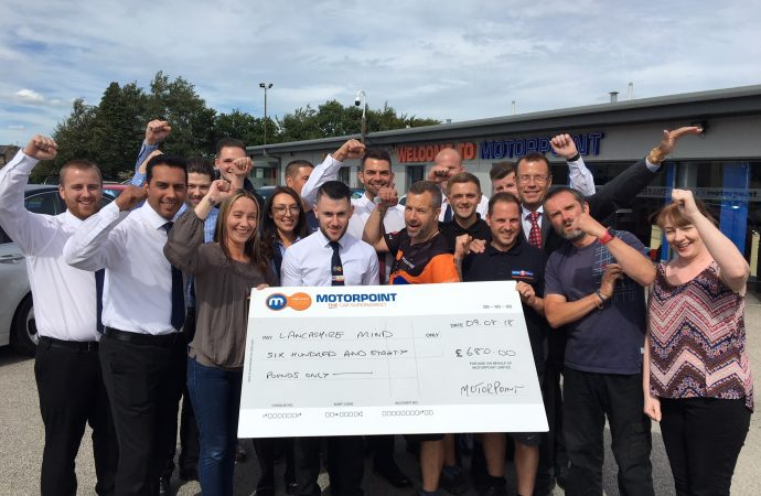 Motorpoint raises nearly £30,000 for charity partners over year