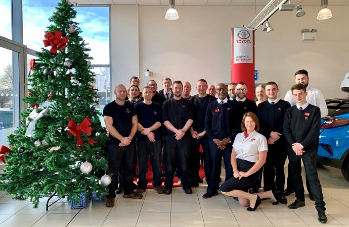 Inchcape Toyota centres raise nearly £1,400 for Alzheimer's Society with Christmas activities