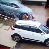 VIDEO: Disaster as customer smashes through dealership windows
