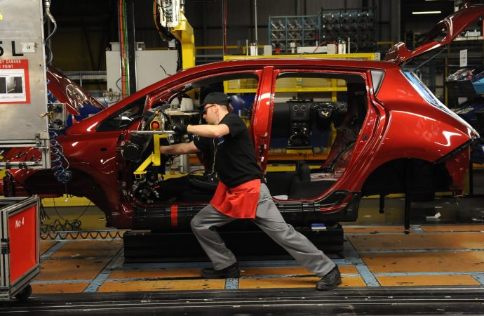 UK car production falls by four per cent as automotive sector counts cost of uncertainty