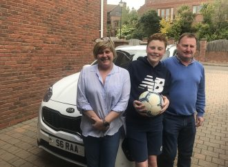 Boot-iful! Family win tickets to Europa League final thanks to Gravells Kia