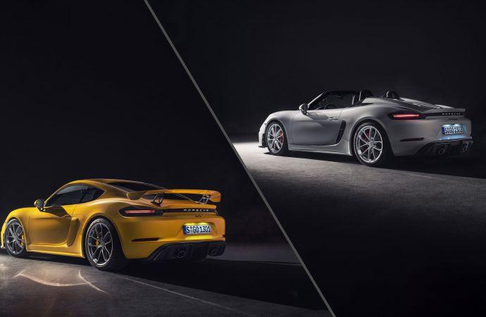 Porsche unveils extreme 718 Spyder and Cayman GT4 models