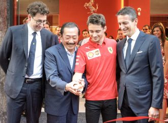 F1 ace Charles Leclerc opens H.R. Owen Ferrari Mayfair showroom