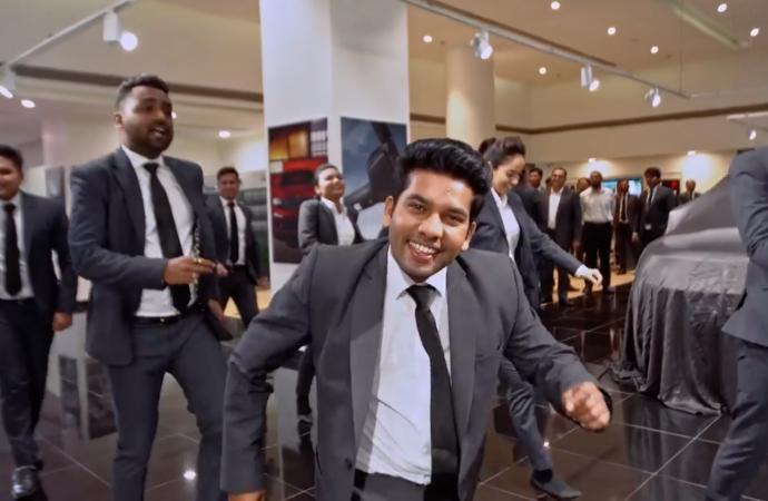 VIDEO: Dancing dealership staff delight Bollywood star
