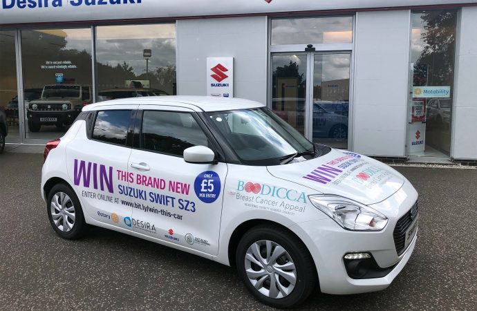 Desira Suzuki helps breast cancer appeal with Swift prize