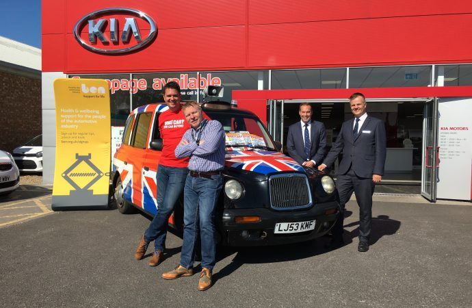 Car Dealer's Andy drops in to support What Car? fundraising effort