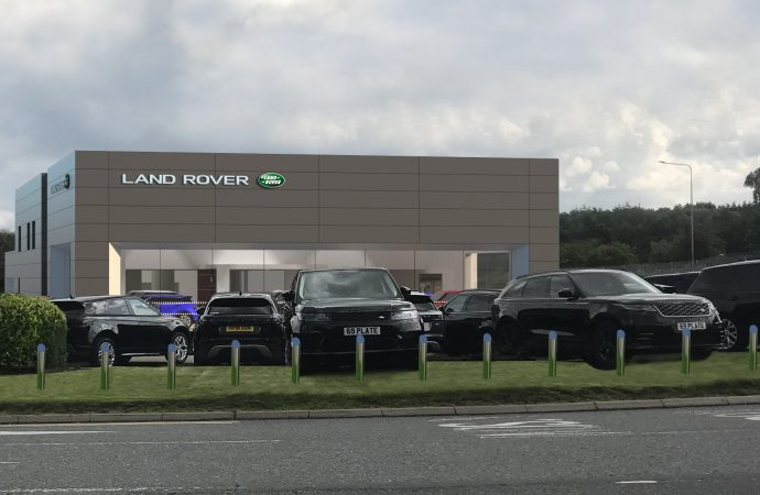Land Rover Nelson moves to temporary showroom as multi-million-pound rebuild gets under way