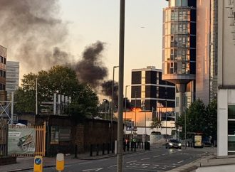 Two suffer smoke inhalation as fire breaks out at Land Rover dealership
