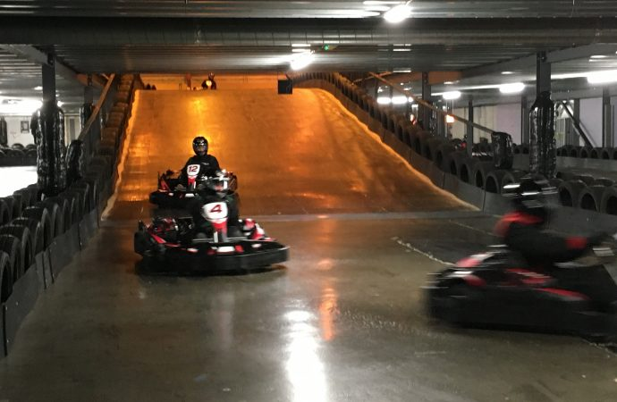 Slipping and sliding in Stockton – Our latest go-karting challenge gets off to a super start!