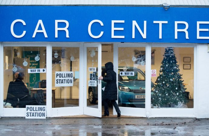 The car dealership that's become a polling station for the day!