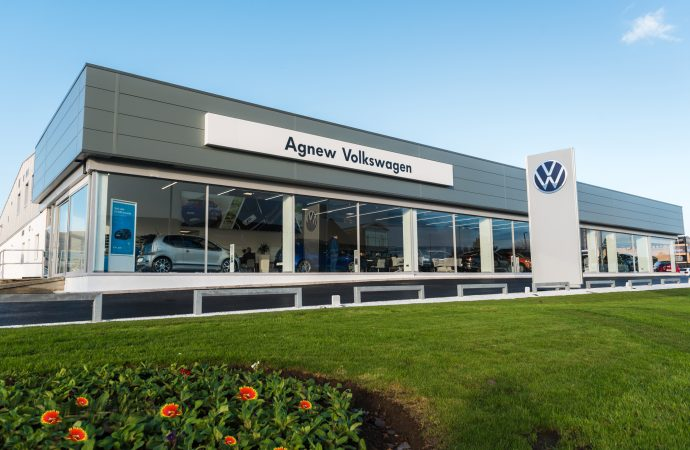 Belfast dealership showcases VW's new branding after refurb