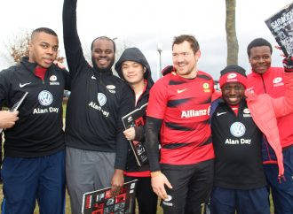 Youngsters meet their rugby heroes in initiative backed by Alan Day Group